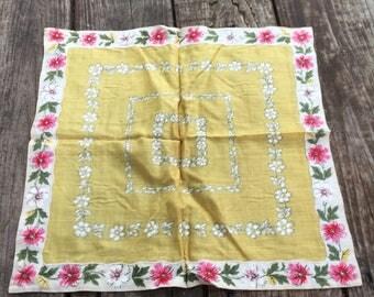 Vintage Cotton Handkerchief Made in Spain