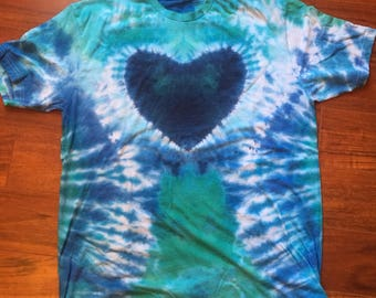 PREMADE Mermaid's Tail Heart T-Shirt XL