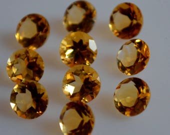 9 mm natural citrine round faceted  loose gemstone AAA quality