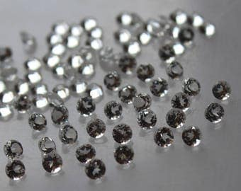 5 mm White Topaz round Faceted  Loose Gemstone AAA Quality