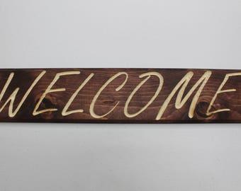 Custom Carved Wooden Sign