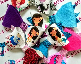 Surprise pack glitter hair bows