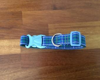 A handmade open clip dog collar