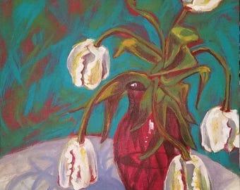 Tulip Riot - original acrylic painting