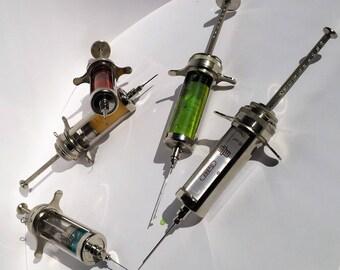 Vintage medical Instruments Glass Syringe  Record 20 ml  NEW! KIT medicine war VET?