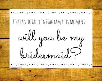 Bridal Printable, Bridesmaid Print, Funny Bridal, Bridal Party, Bridal Print, Maid of Honor, Funny Bridesmaid, Instagram Wedding