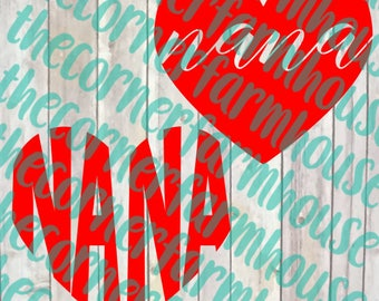 Nana SVG DXF PNG Clip Art Cut File