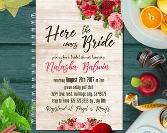 Bridal Shower Invitation, Bridal Shower Invites, Floral Bridal Shower Invitation, Printable Bridal Shower, Bridal Shower, Invitation, Bridal