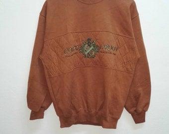 Vintage Sweatshirt Cocco Croco Italy embroidered Big Logo nice design/Japan/Hip-hop/USA