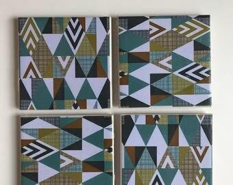 Saberside tile coasters