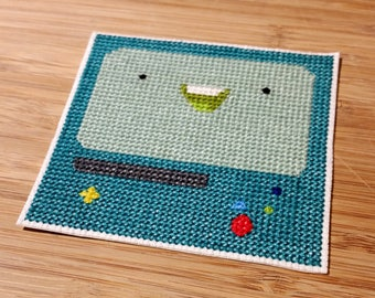Adventure Time BMO Beemo cross stitch patch