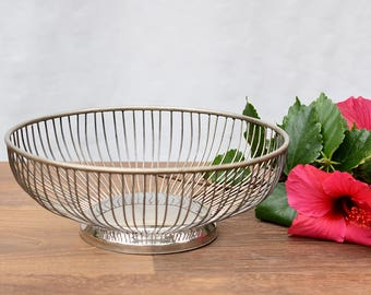 Silver Plated Wire Bowl