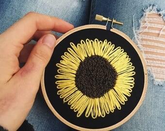 Handmade Sunflower Embroidery