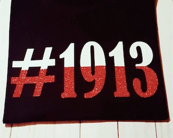 Black shirt with #1913