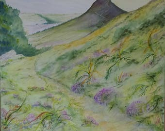 Let's go for a walk up the Topping. ..a  limited edition print from an original watercolour by Gillian Ousby.