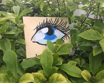 Petite eye painting original