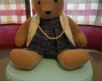 "Handmade,dressed, 18"" Teddy Bear  ""Claire"""