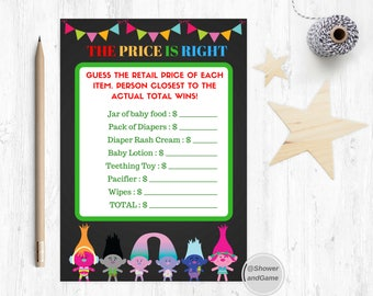 Baby Shower The Price Is Right Game Trolls | Trolls Baby Shower The Price Is Right Game | Trolls Game The Price Is Right