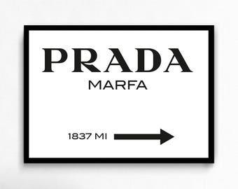 Prada Marfa canvas art print poster