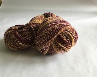 Handspun BFL wool knitting yarn