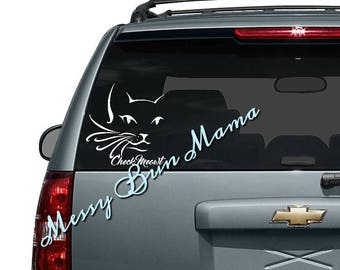 Check Meowt (Check Me Out) decal