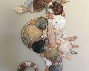 Seashell seahorse