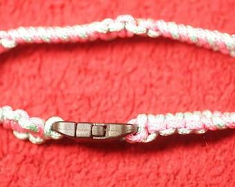 56 paracord bracelet - pink & blue