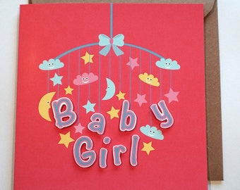 Baby Cards, Baby girl, Baby boy, new born