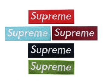 Supreme Iron On Patch - Embroidery Supreme Applique Iron On Patch New