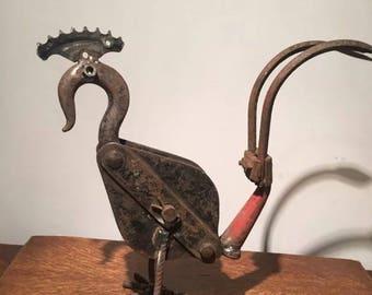 Scrap metal art/sculpture chicken