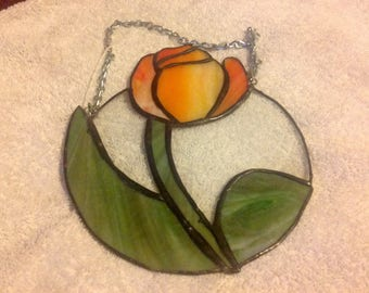 Stained glass Tulip Suncatcher