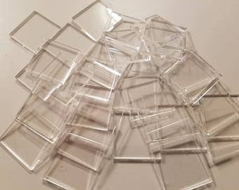 50 Clear Acrylic Squares. Acrylic rectangles low prices Plexiglass Squares  Plexiglass Rectangles