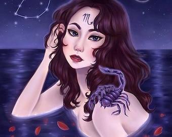 Scorpio Zodiac Astrology Fine Art Print