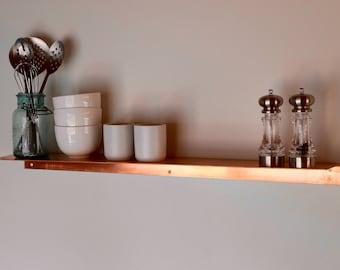 Floating Copper Shelf