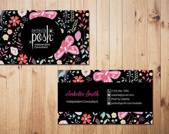 PERSONALIZED Perfectly Posh Business Cards, Perfectly Posh Style Card, Printable Digital Printed, Personalized Cards PH01