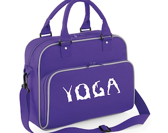 iLeisure Girls Personalised Name Yoga Figures Kit Bag.