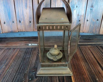 Antique nautical bulkhead lantern