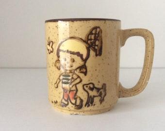 Butterfly Girl Mug | Otagiri | Japan | Vintage