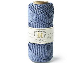 Hemp Cord Spool 20# 205 Feet/Pkg-Dusty Blue