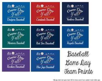 Customizable Game Day Printable for your favorite team 10x8