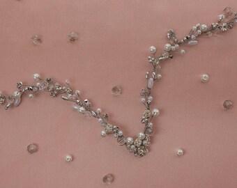 Bridal headpiece - Violett - Headpieces
