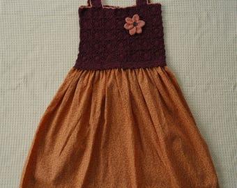 Hand-made crochet dress