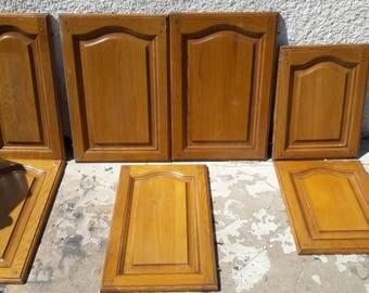7 solid oak wood closet doors