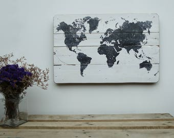 Black and White, World Map