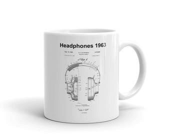 Vintage Headphones Mug Gift