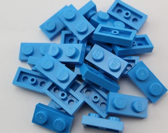 LEGO® Mosaic  Pieces 1x2 (x25) - Dark Azure/Blue