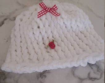 Little Girl Baby Hat Super Soft Yarn