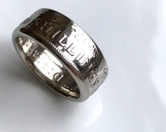 1950 two shilling coin ring