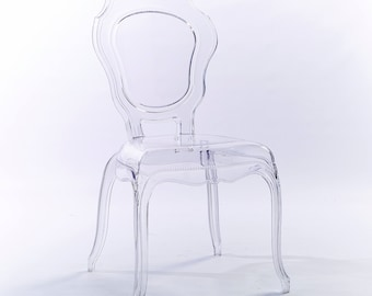 Clear  Transparent Modern Ghost Chair Side Chair