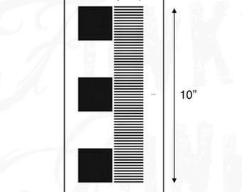 Funky Junk Stencil - Fringe - Furniture or Wall Stencil